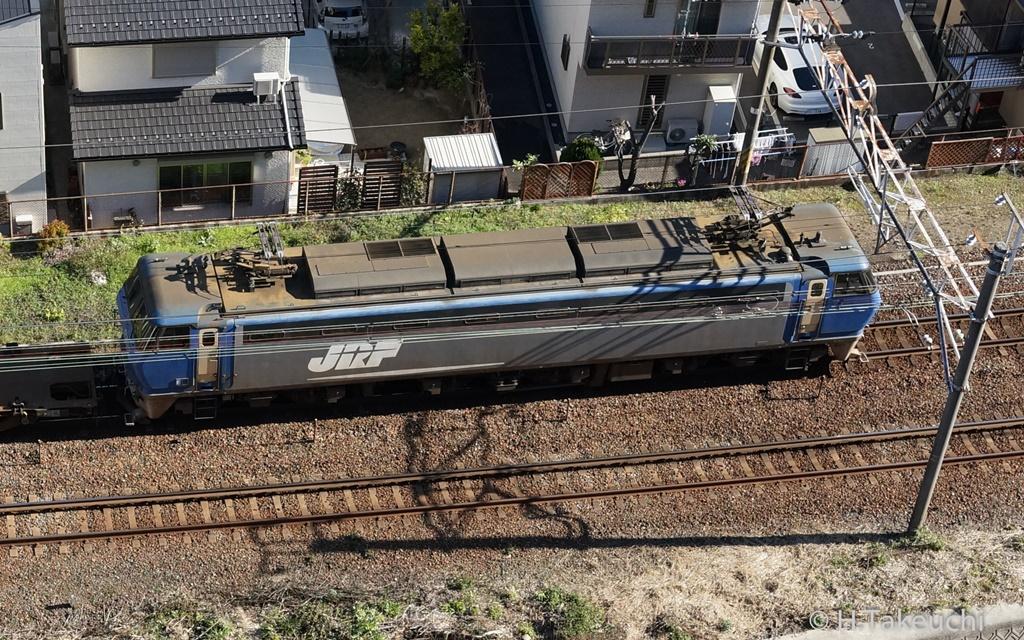 貨物列車(2015年12月30日撮影)