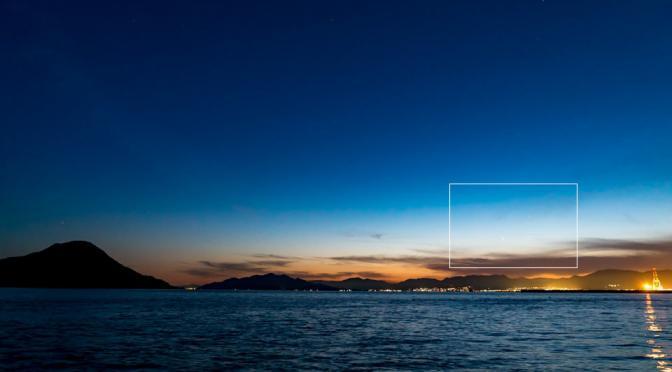 トワイライトと水星最大東方離角から1日とオリオン座(2018年03月17日)